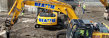 Beattie demolition on site